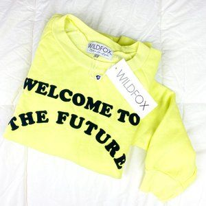Wildfox Welcome to the Future neon pullover LARGE